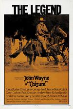 Chisum (1970) John Wayne cult western movie poster print