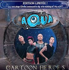 CD CARTONNE CARDSLEEVE AQUA CARTOON HEROES EDITION LIMITEE + CLIP ET MAKING OF