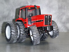 1/64 Farm custom scratch tractor tire kit 6 tires gray + axle