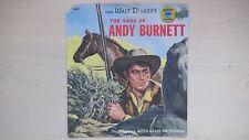 Golden Little RED Record Walt Disney's THE SAGA OF ANDY BURNETT 78rpm 50s