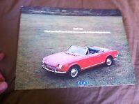 1971 Fiat 124 Coupe Spider Sedan and Wagon USA Color Brochure Catalog Prospekt