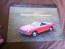 1971 Fiat 124 Coupe Spider Sedan and Wagon USA Color Brochure Catalog Prospekt