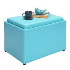 Convenience Concepts Designs4Comfort Accent Storage Ottoman, TEAL - 143523SF