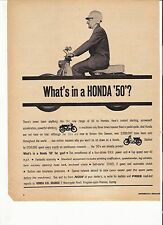 Honda 50 C102 classic period motorcycle advert 1963
