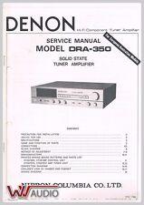 Denon DRA-350 Tuner Amplifier Service Manual