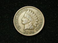 NEW INVENTORY!!  XF 1904 INDIAN HEAD CENT PENNY w/ DIAMONDS & FULL LIBERTY #97s