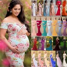 f97637b03f2 Women Maternity Dress Maxi Long Ladies Wedding Gown Pregnancy Photography  Props