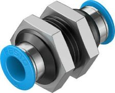 10x FESTO 153054 QSL-1//2-12 QSL Ø12mm R1//2 L Steckverbinder Verschraubung NEU