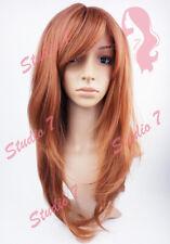 W150 Auburn Long Layered Sythetic Wig - studio7-uk
