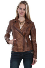 Scully Women's Brown Leather Sanded Jacket L87
