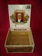 Vintage Webster Golden Wedding Superiores Wooden Cigar Box