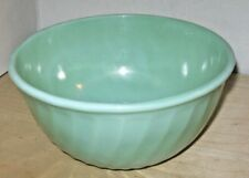 """FIRE KING OVEN GLASS 9"""" JADEITE SWIRL MIXING BOWL, FREE SHIPPING"""