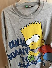 T-shirt Maglia The SIMPSONS United Colors Of Benetton Taglia 10-11 Anni Cm 150