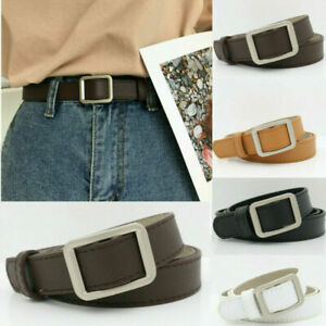 Women Genuine Leather Dress Casual Belt Sliding Automatic Click Buckle Waistband