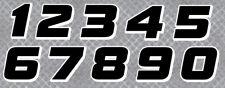 STICKER NUMERO COURSE RACING FLAG NOIR MOTO CROSS AUTOCOLLANT STICKER NU002NB