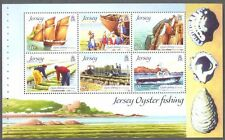 Jersey-oyster MNH di pesca speciale min foglio EX booklet-fishing-ships