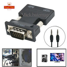 1080P HDMI Hdmi Female To VGA Male With Audio Output Cable Converter Adapter UK