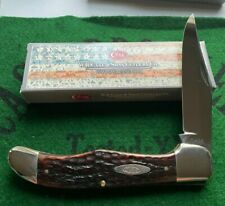 case xx 6165 one blade folding hunter 1940-64 unused cleaned great snap solid