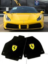 Ferrari 488 GTB, 458 Spider, Italia, Carpet Floor Mats, Shield logo.
