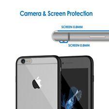 iPhone 6s Case PC TPU Slim Shockproof Cover Anti-Scratch Transparent Clear Black