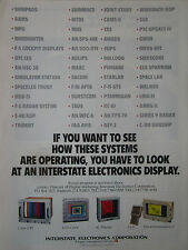 1/1991 PUB INTERSTATE ELECTRONICS DISPLAY COLOR CRT LCD PLASMA ORIGINAL AD