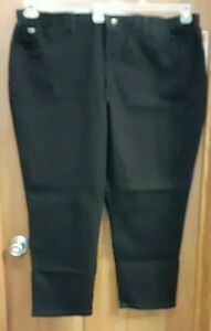 Lee Relaxed Fit Side Elastic Stretch Black Jeans Women's Plus Size 28WP NWT