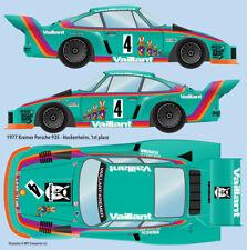 1977 Vaillant Kremer #4 Porsche 935 Water Transfer Decals 1/20 scale for Tamiya