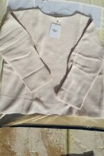 John Lewis Modern Rarity pleated sleeve cashmere jumper size L rrp £200 BNWT