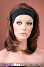 Headband 3/4 Wig Hair Piece Extensions 2 Tone Brown