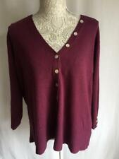 EWM Raspberry Red Womens Cardigan Ladies Cardigan Girls Cardigan Size 22-24 (97)
