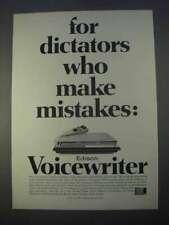 1966 Edison Voicewriter Ad - Dictators Make Mistakes