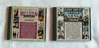 1984 Lot of 2 Every Great Motown Song The First 25 Years Vols. 1 and 2 CDs
