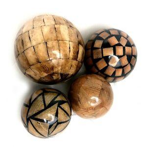 4 MAITLAND SMITH Glazed Balls Orbs Set Hand Made Philippines - Rare