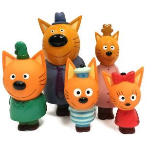 Three Cats, Tri Kota, Figurine, Bath Toys, Rubber, Set 5 pc., Original