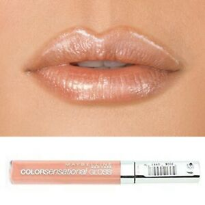 Nude Beige Frosted Shimmer Pearl Lip Gloss Maybelline Sensational Naked Star 610