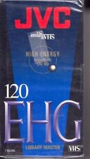 New JVC Blank VHS High Energy Video Cassettes EHG T-120 Library Master 2-Pack