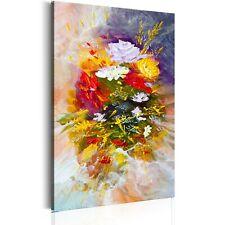 100% Handgemalt Gemälde Bilder Leinwand Blumen Strauß 80x120 b-B-0122-b-a_MK