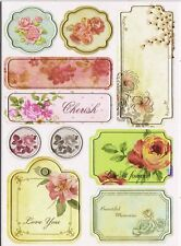 Craftime Enchanted Chipboard Stickers, Fauna Gift Tag Scrapbooking Card Making