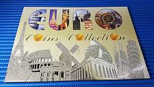 Euro Coins Collection and 1X Gold Plated Euro Commemorative Medallion