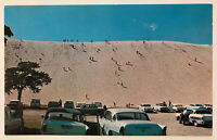 The Climb, Sleeping Bear Sand Dune, Michigan MI Postcard
