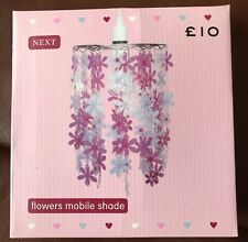 NEXT Gorgeous Girls Flower Mobile Light Shade BBIB - Pinks/purpled/blues - Fab!