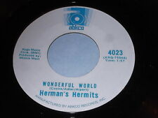 Herman Hermits: Wonderful World / There's A Kind Of Hush All Over The World 45