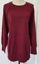 NWT Old Navy Maternity Nursing Sweater size XXL 2XL - zipper/heathered wine/red