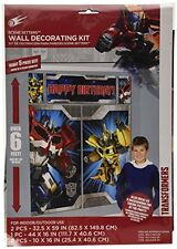 TRANSFORMERS BIRTHDAY PARTY SUPPLIES SCENE SETTER WALL POSTER DECORATIONS
