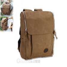 Men's Vintage Canvas backpack Rucksack Shoulder travel Camping Bag Satchel New