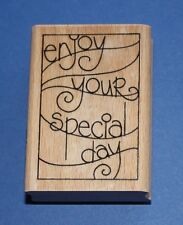 NEW Stampendous 'Enjoy Wave' H200 Wooden Backed Rubber Stamp - SALE