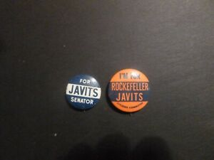 Vintage Jacob Javits for US Senate New York and Rockefeller