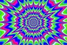 Creeper Blacklight Poster Print Illusion Psychedelic Ultraviolet New 36x24 E5