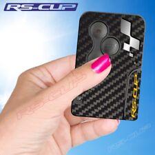 0029 Sticker carte clé RENAULT SPORT aufkleber Clio 3 Megane 2 carbon silver