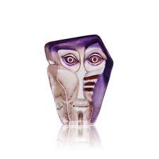 Mats Jonasson Mini Geno Mask Glass Sculpture or Paperweight NIB 88142 NEW IN BOX